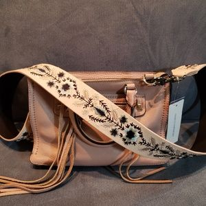 RM Micro Regan Satchel with new embroidery strap
